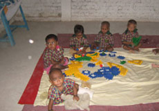children at gayatri sansthan