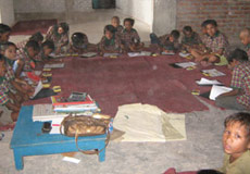 children studying at gayatri sansthan
